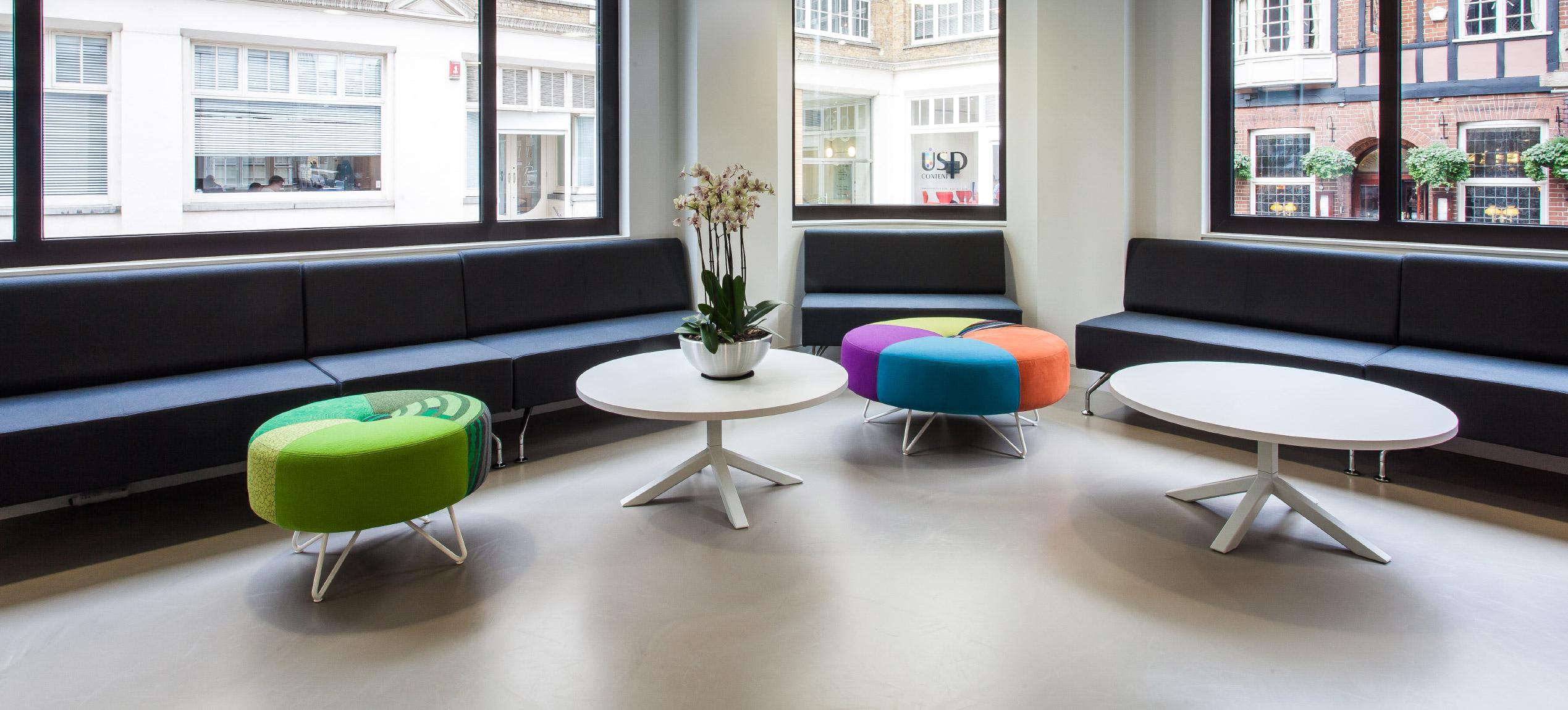 Sony office resin flooring by Sphere8