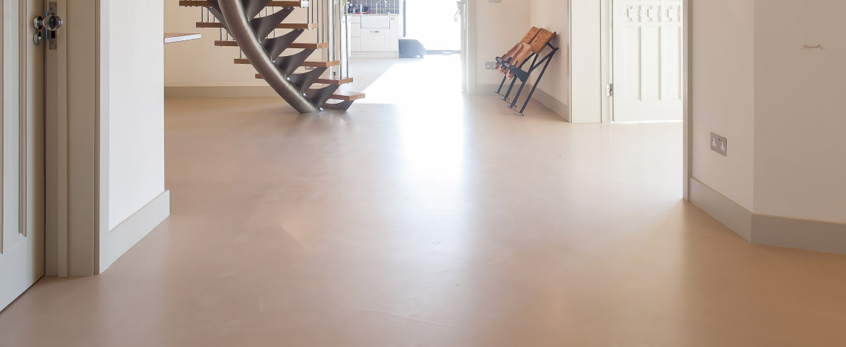 Luxury concrete style floors
