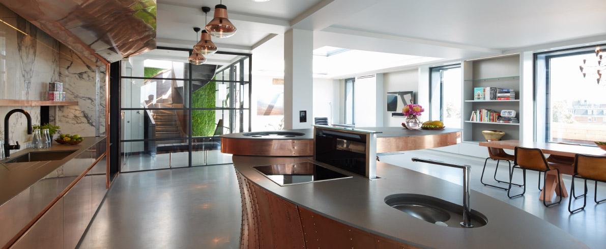 Penthouse kitchen floors