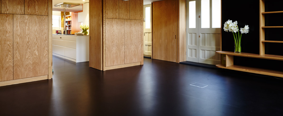 Resin alternative to rubber floors