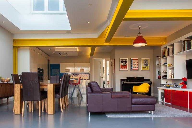 Resin floors in Slate in family home by Sphere8