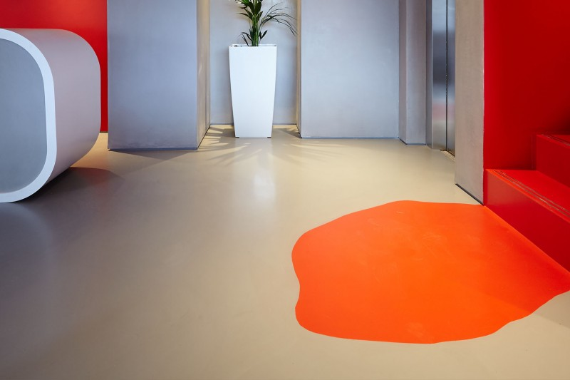 Poured resin floors at Twickenham Studios