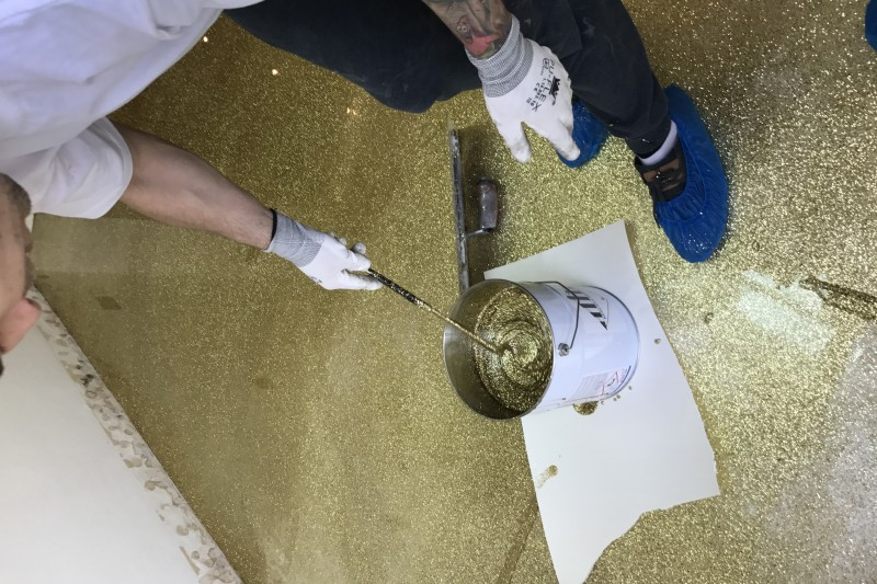 Glitter resin flooring by Sphere8