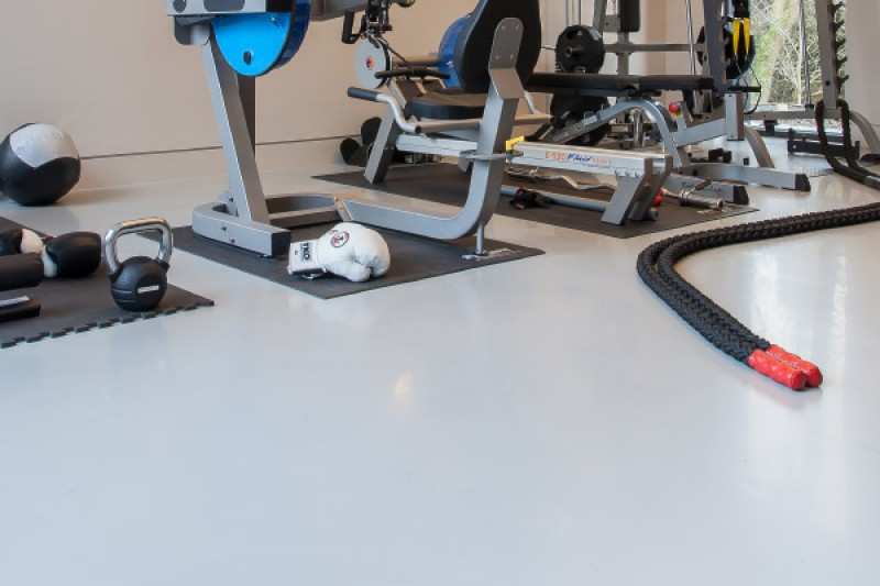 Private gym with resin floors