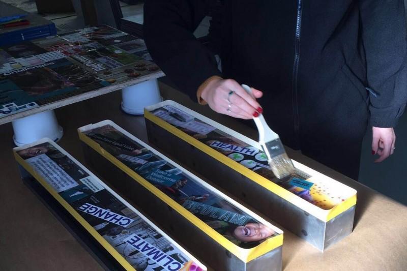 Goldfinger Factory, Wellcome Trust magazine rack