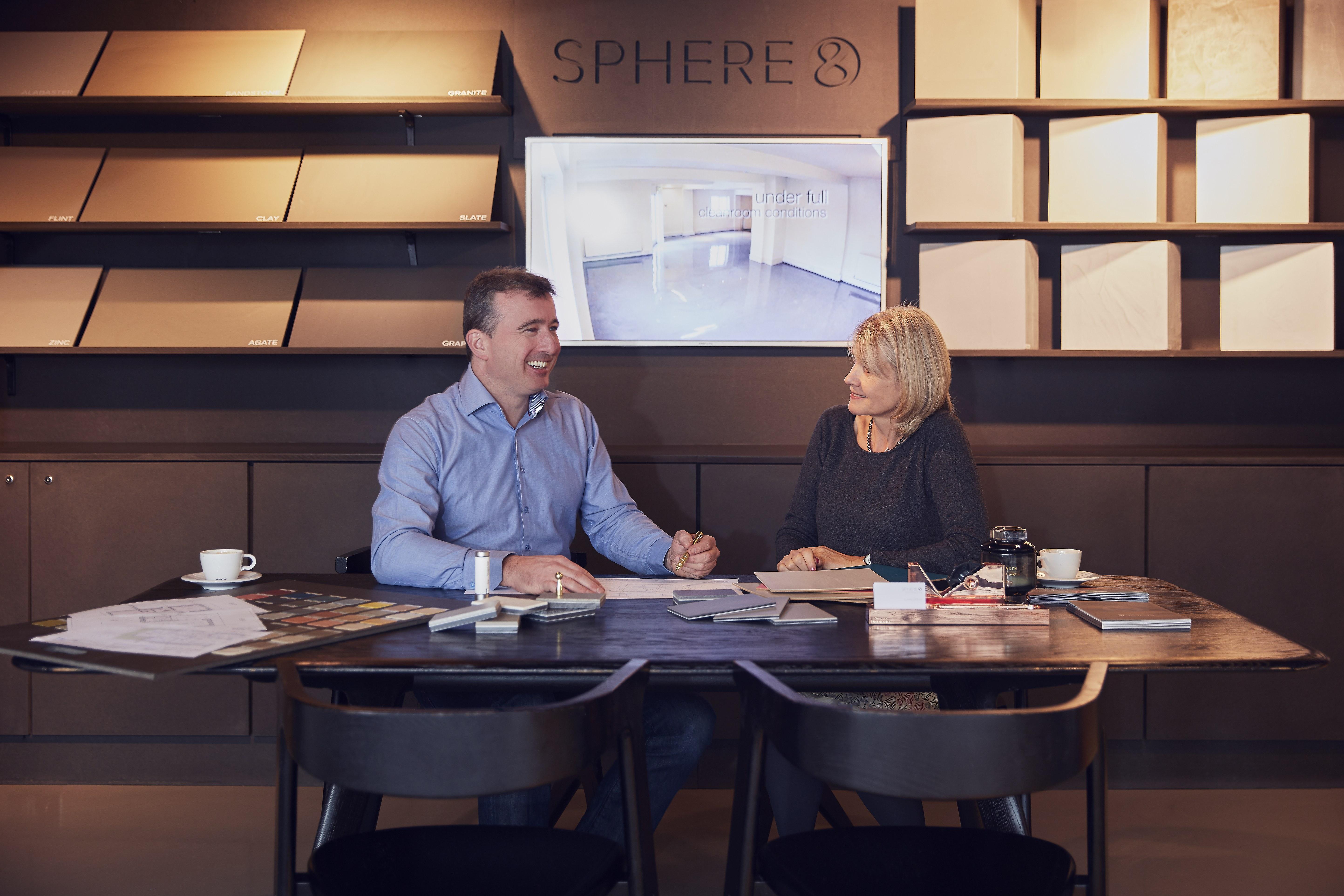 Sphere8 resin flooring showroom