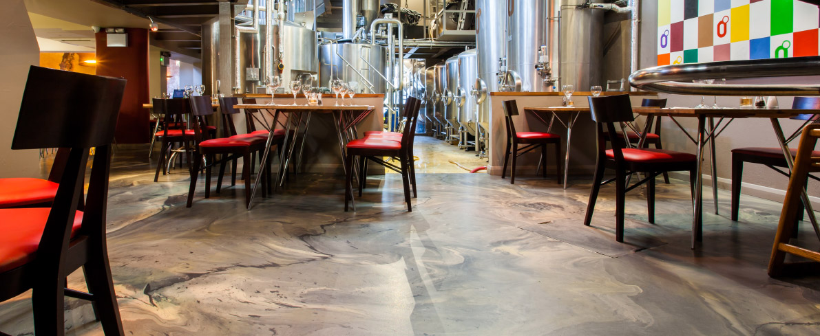 Restaurant flooring meets brewery flooring