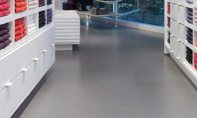 Resin retail flooring
